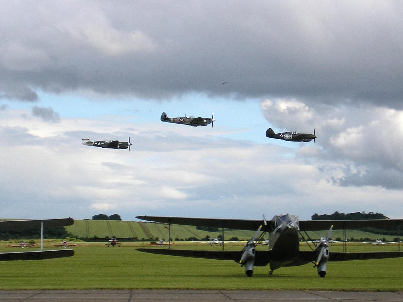 3 Meeting de Duxford en 2008, passage p40 spit