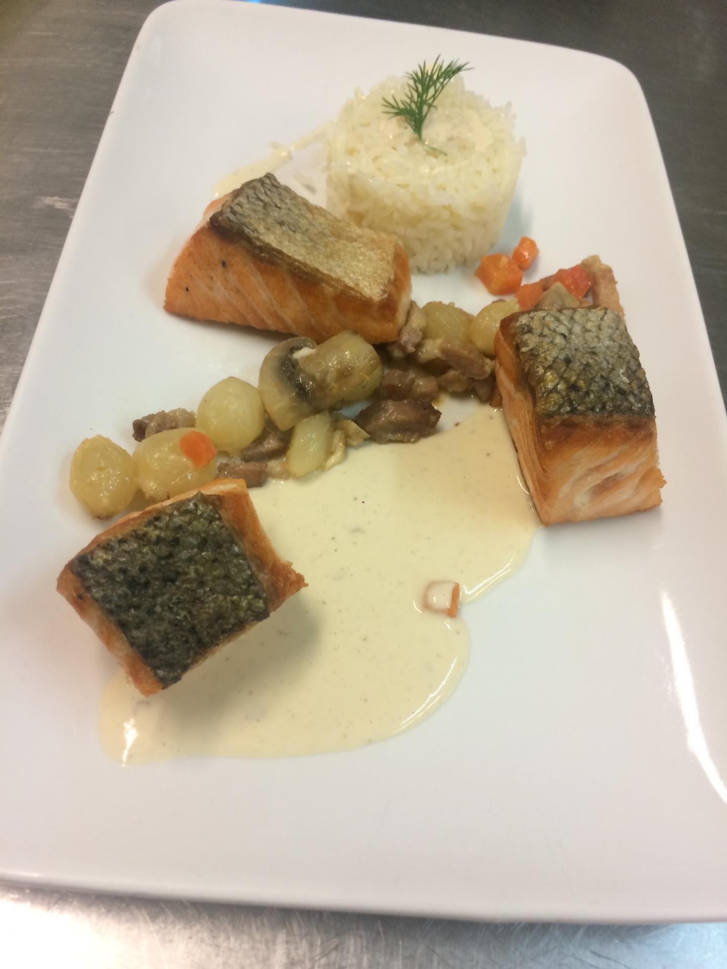 Blanquette de saumon à l'ancienne