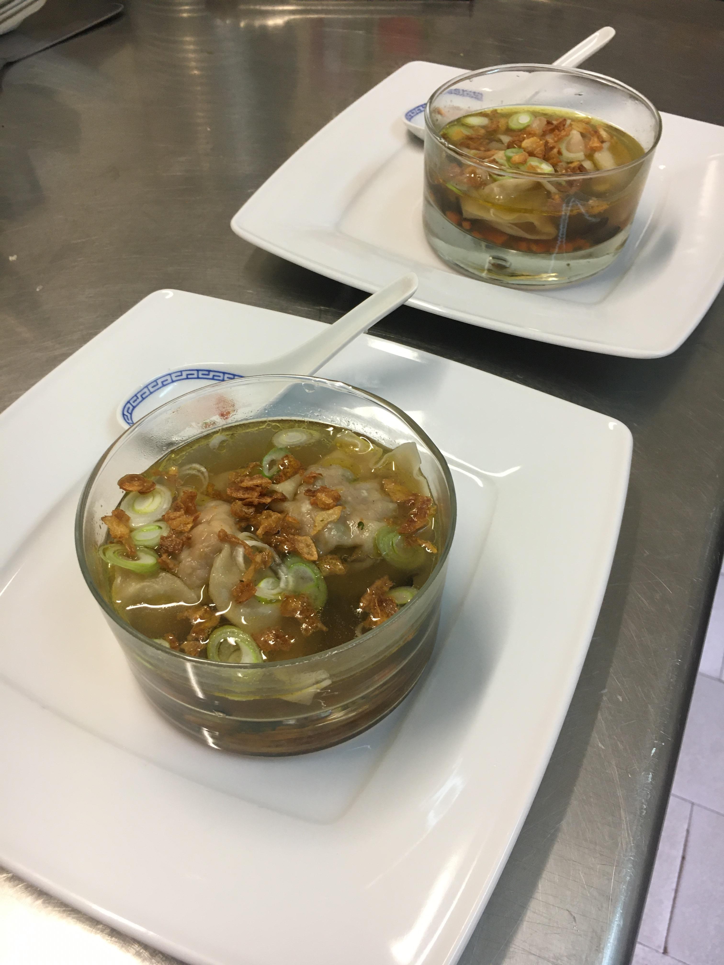 Soupe de raviolis aux crevettes (nouvel an Chinois)