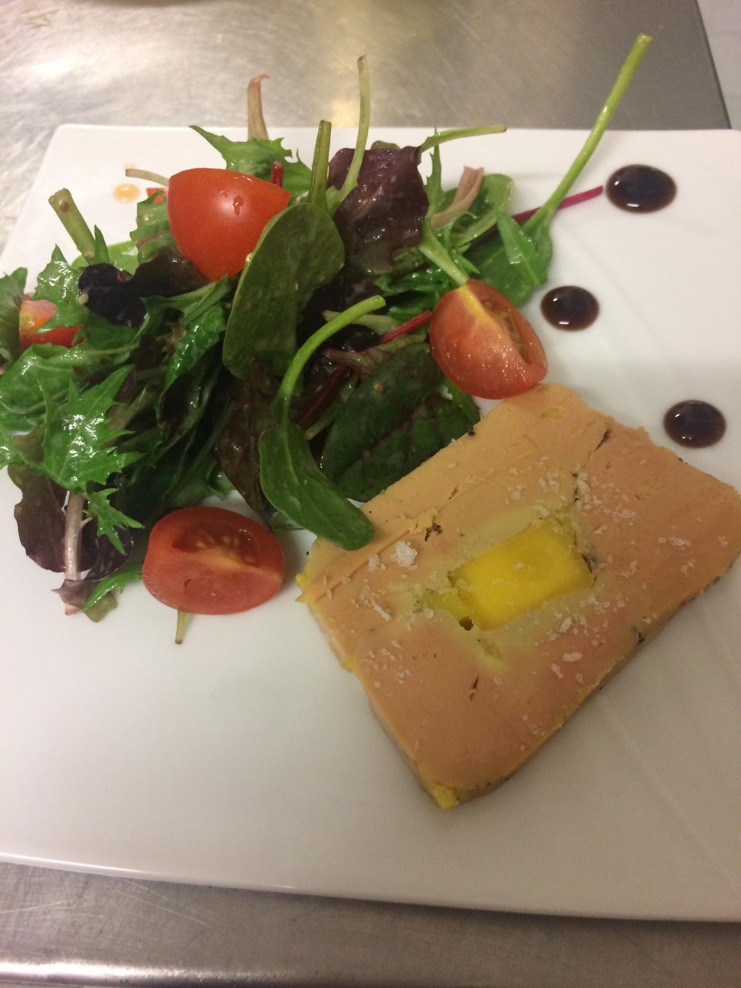 St Valentin Terrine de foie gras aux mangues
