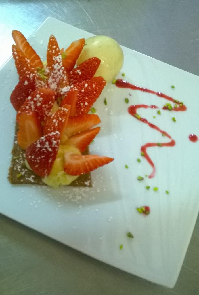 Tarte spéculoos aux fraises