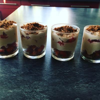 Tiramisu nutella fraise