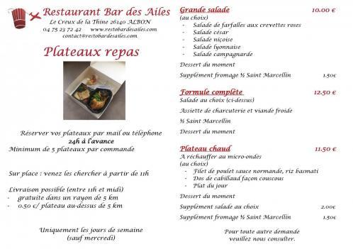 Plateaux repas affiche